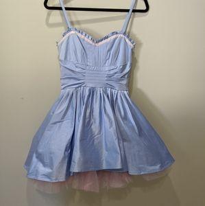 Betsey johnson blue party dress
